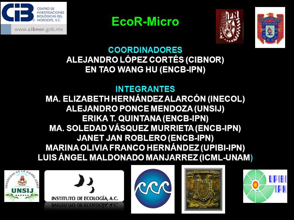 EcoR-Micro COORDINADORES ALEJANDRO LÓPEZ CORTÉS (CIBNOR)