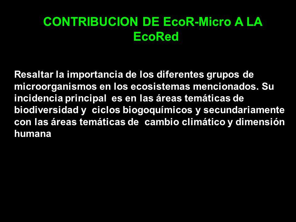CONTRIBUCION DE EcoR-Micro A LA EcoRed