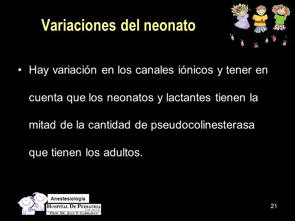 Variaciones del neonato