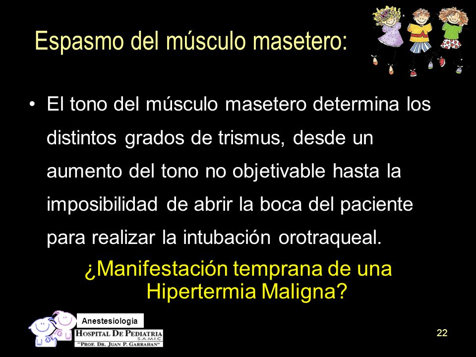 Espasmo del músculo masetero: