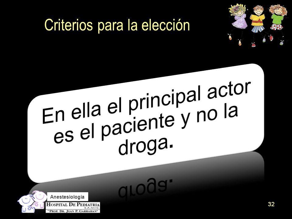 Criterios para la elección