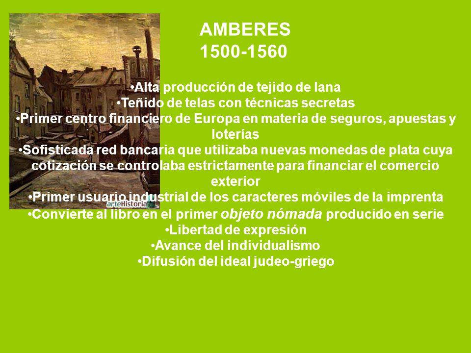 AMBERES 1500-1560 Alta producción de tejido de lana