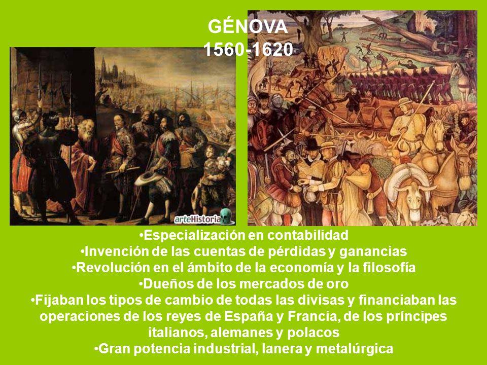 GÉNOVA 1560-1620 Especialización en contabilidad