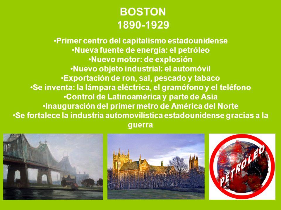 BOSTON 1890-1929 Primer centro del capitalismo estadounidense