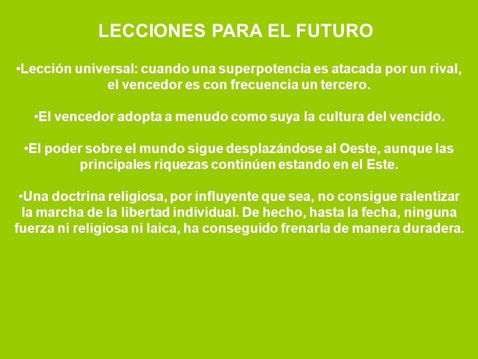 LECCIONES PARA EL FUTURO
