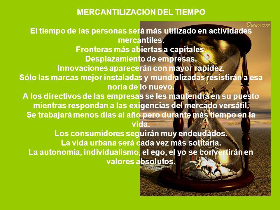 MERCANTILIZACION DEL TIEMPO