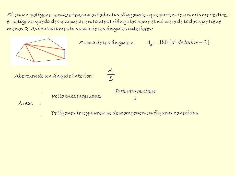 Si en un polígono convexo trazamos todas las diagonales que parten de un mismo vértice,