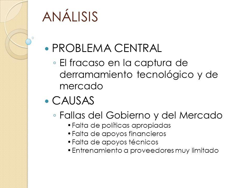 ANÁLISIS PROBLEMA CENTRAL CAUSAS