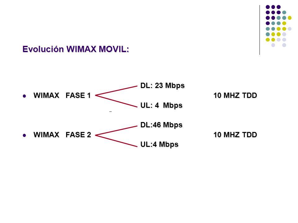 Evolución WIMAX MOVIL: