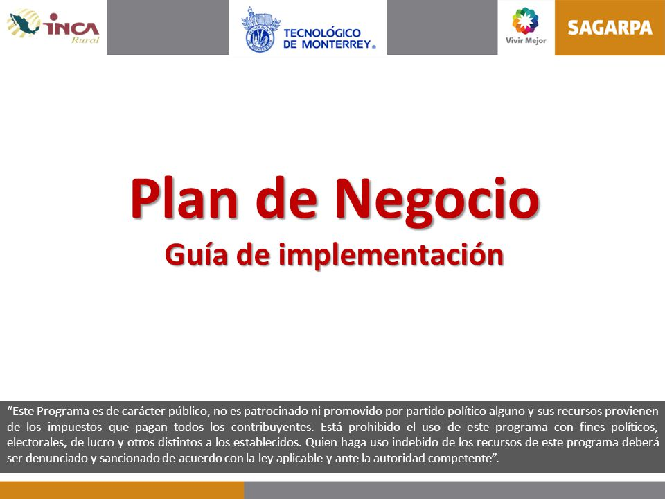 Plan de Negocio Guía de implementación