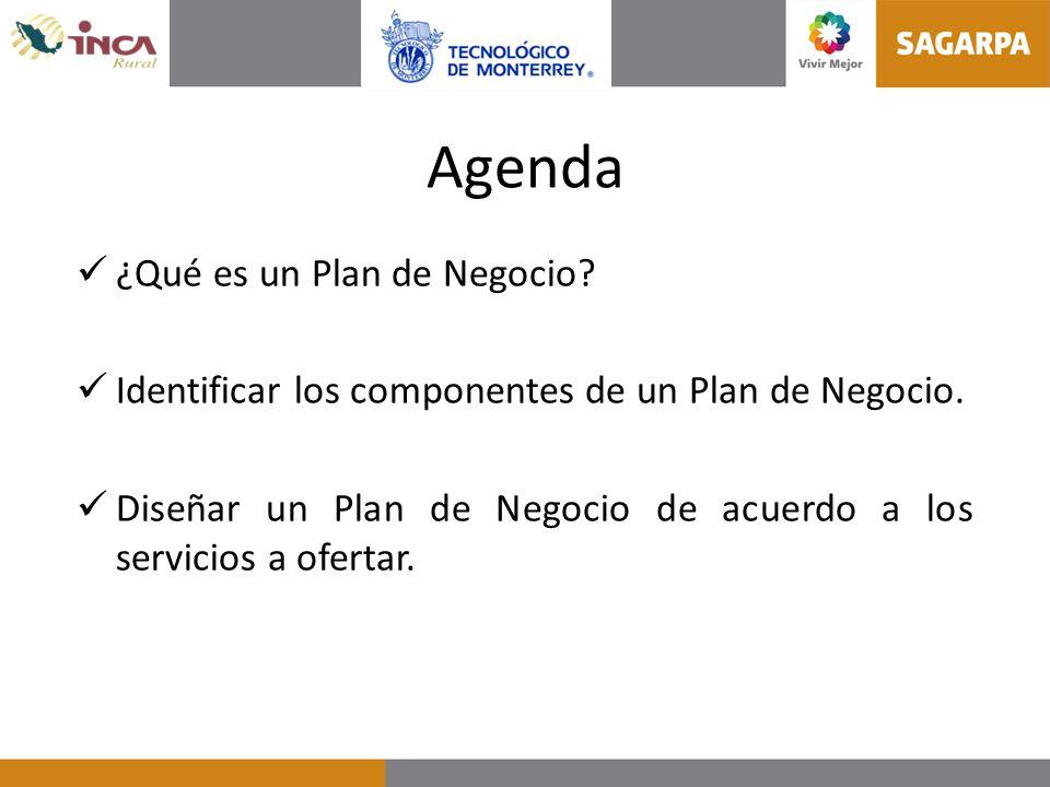 Agenda ¿Qué es un Plan de Negocio
