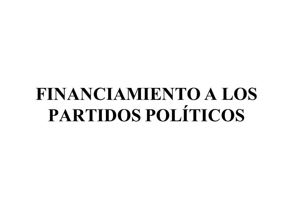 FINANCIAMIENTO A LOS PARTIDOS POLÍTICOS