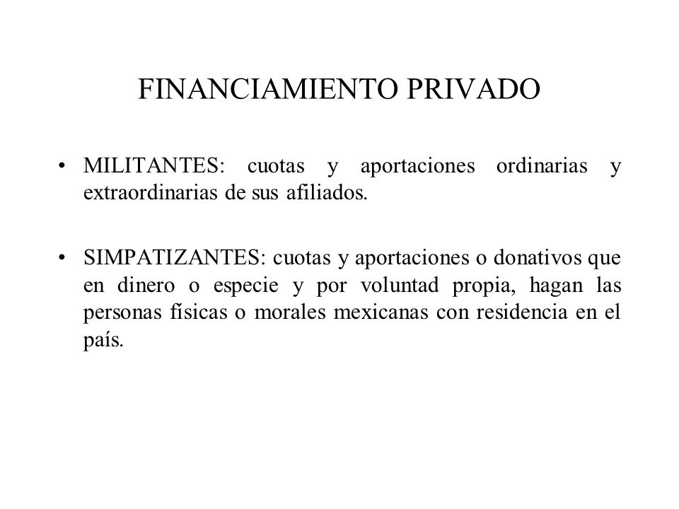 FINANCIAMIENTO PRIVADO