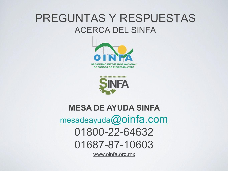 PREGUNTAS Y RESPUESTAS ACERCA DEL SINFA
