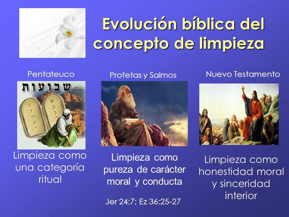 Evolución bíblica del concepto de limpieza