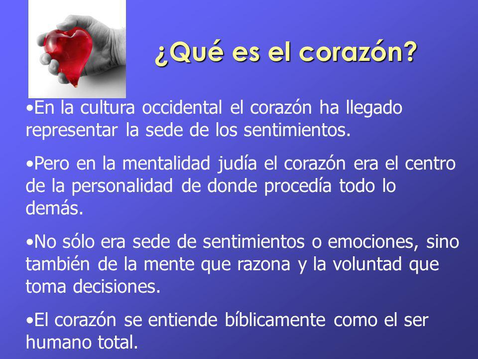 ¿Qué es el corazón En la cultura occidental el corazón ha llegado representar la sede de los sentimientos.