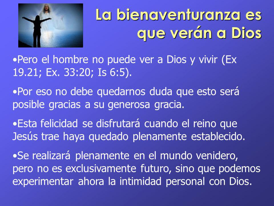 La bienaventuranza es que verán a Dios