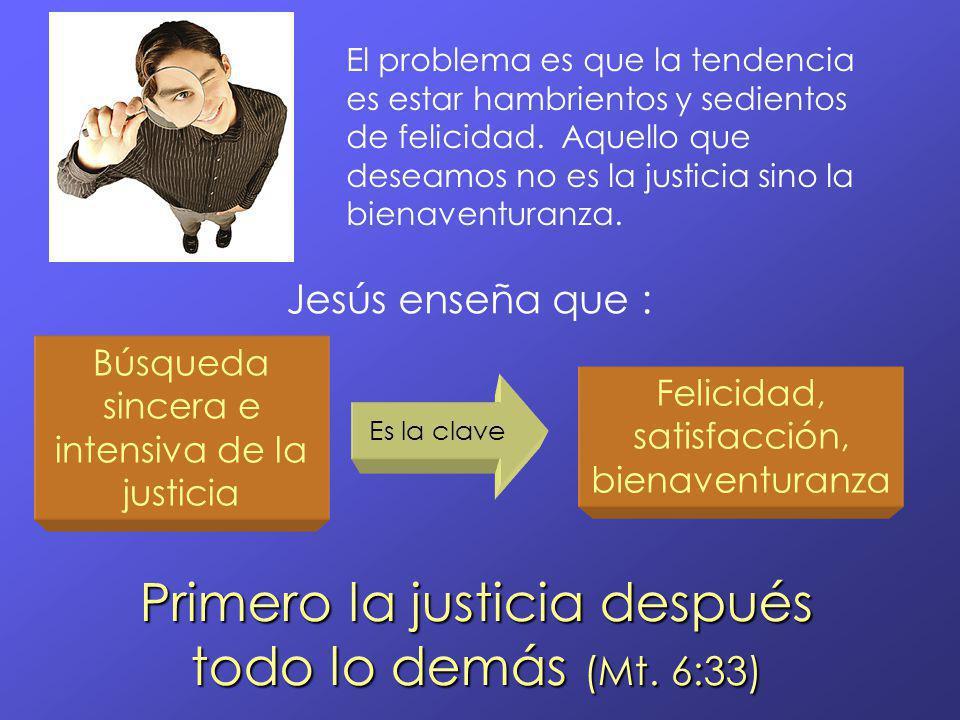 Primero la justicia después todo lo demás (Mt. 6:33)