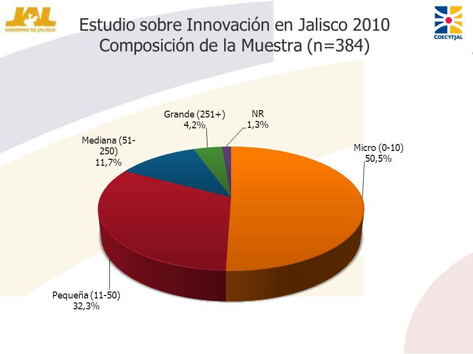 Estudio sobre Innovación en Jalisco 2010 Composición de la Muestra (n=384)