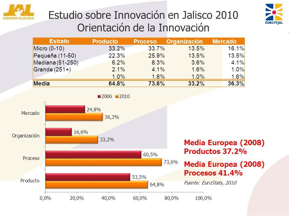 Estudio sobre Innovación en Jalisco 2010 Orientación de la Innovación