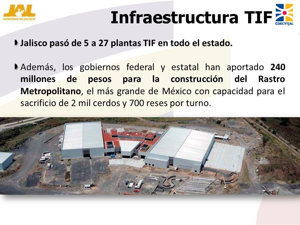 Infraestructura TIF Jalisco pasó de 5 a 27 plantas TIF en todo el estado.