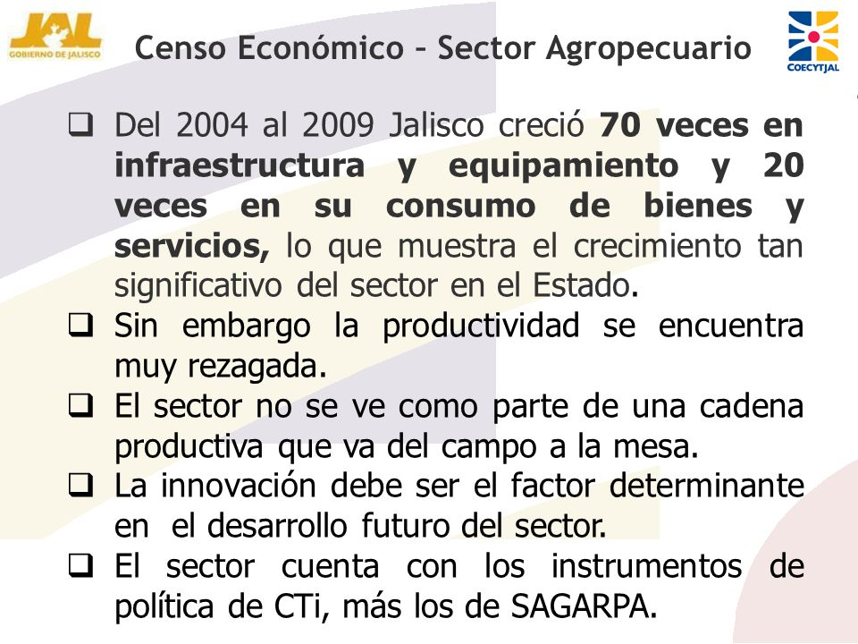 Censo Económico – Sector Agropecuario
