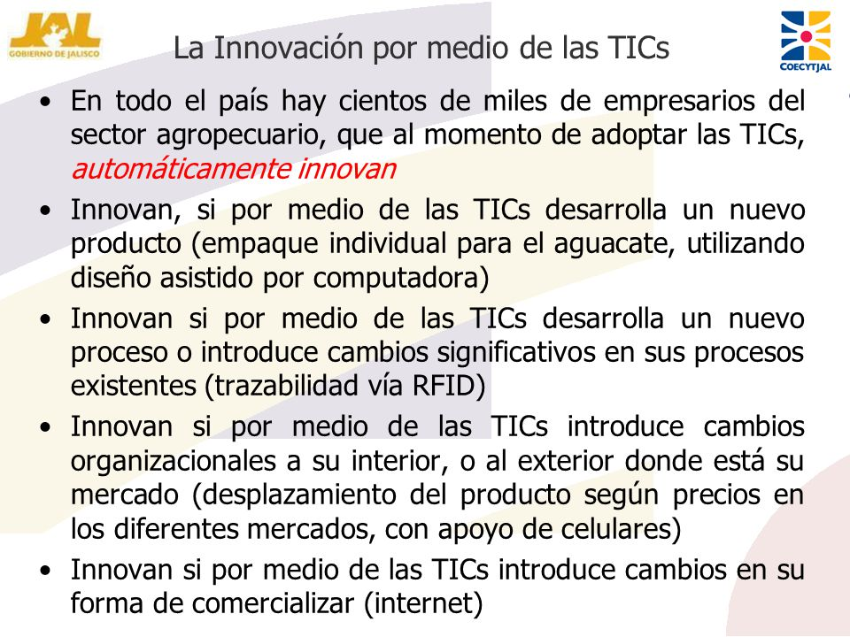 La Innovación por medio de las TICs
