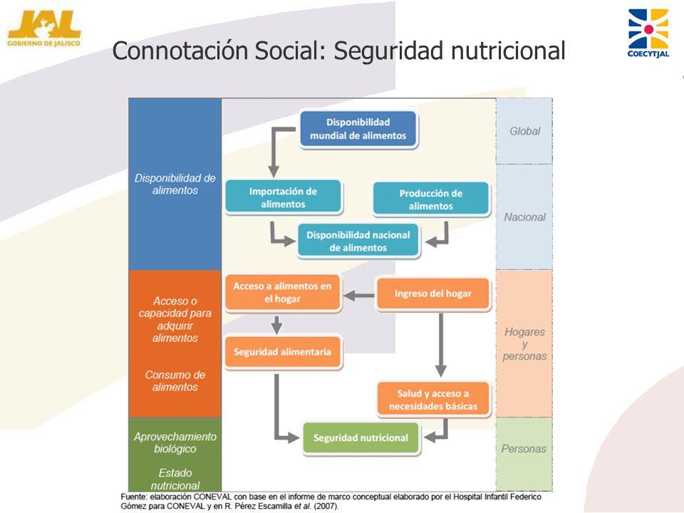 Connotación Social: Seguridad nutricional