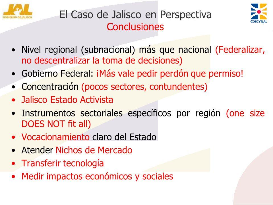 El Caso de Jalisco en Perspectiva Conclusiones