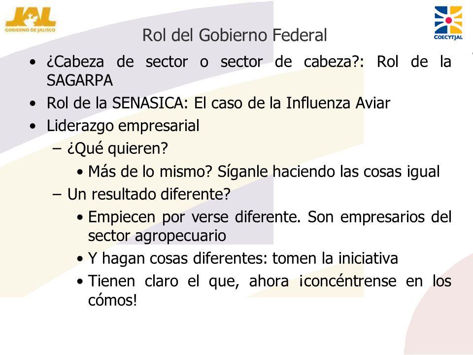 Rol del Gobierno Federal