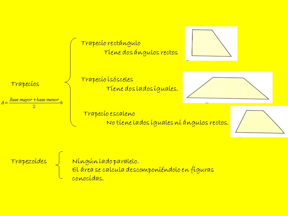 Trapecio rectánguloTiene dos ángulos rectos. Trapecio isósceles. Trapecios. Tiene dos lados iguales.