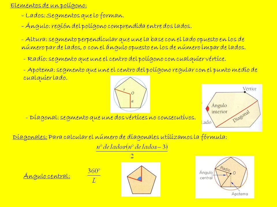 Elementos de un polígono: