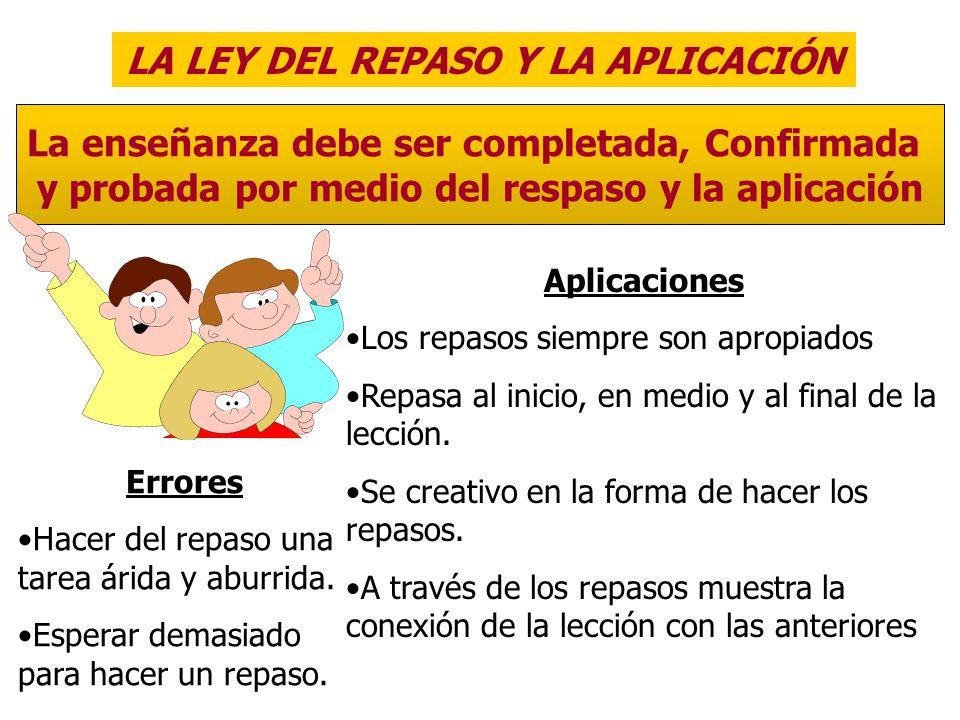 LA LEY DEL REPASO Y LA APLICACIÓN