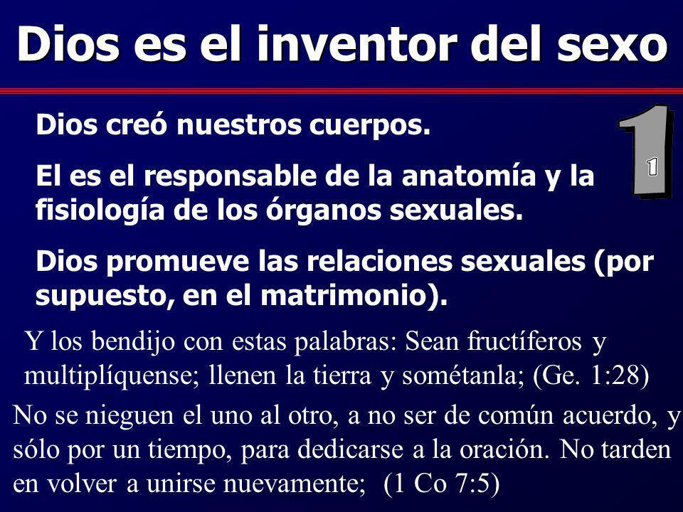 Dios es el inventor del sexo