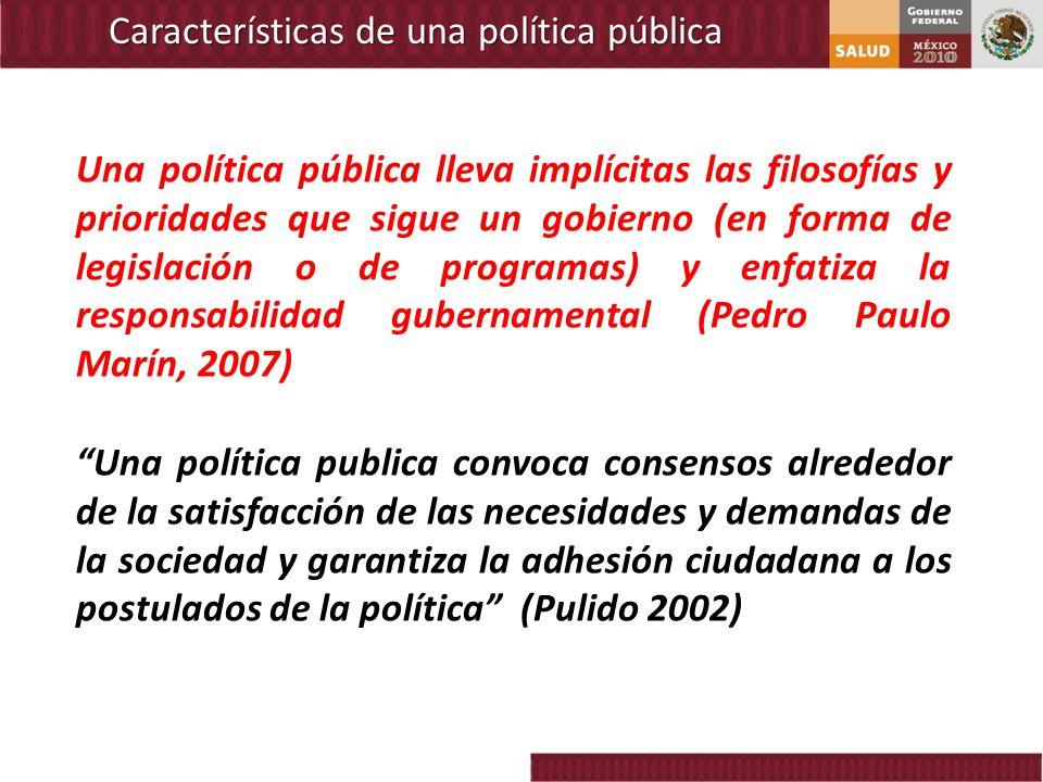 Características de una política pública