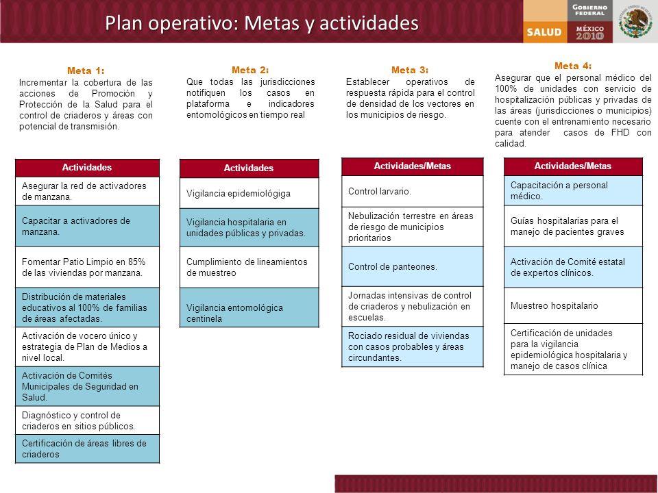 Plan operativo: Metas y actividades