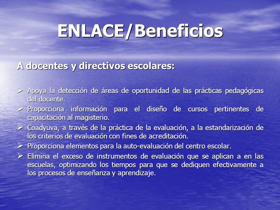 ENLACE/Beneficios A docentes y directivos escolares: