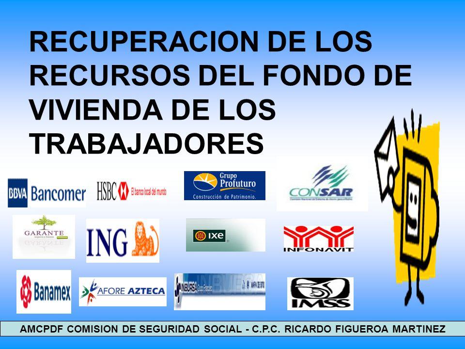 RECUPERACION DE LOS RECURSOS DEL FONDO DE VIVIENDA DE LOS TRABAJADORES