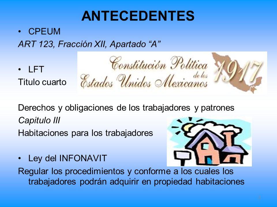 ANTECEDENTES CPEUM ART 123, Fracción XII, Apartado A LFT