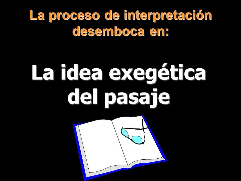 La proceso de interpretación desemboca en: