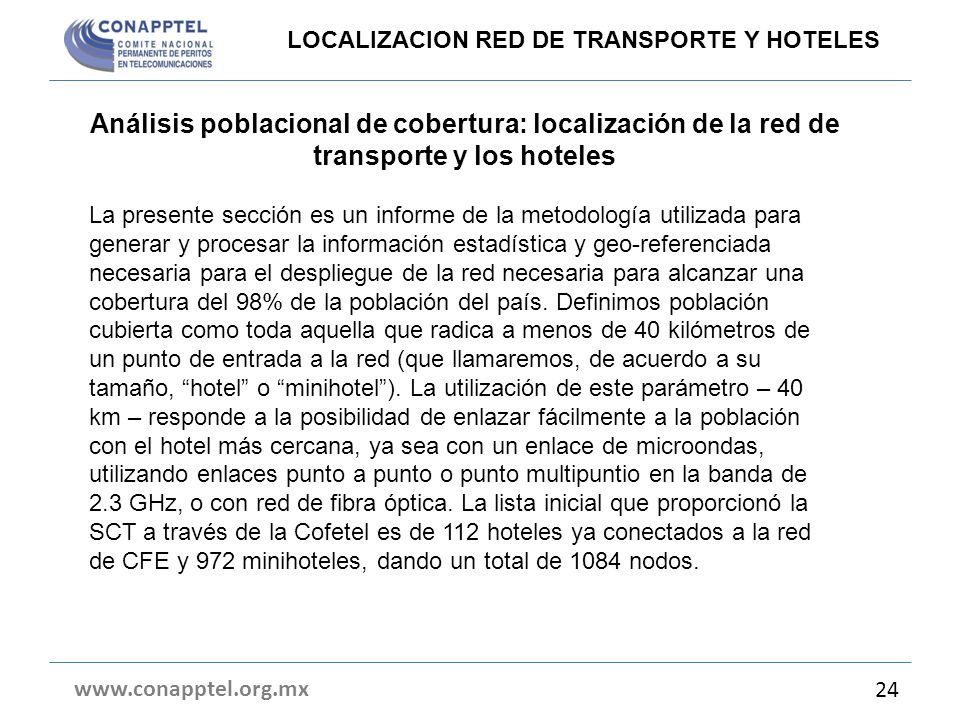 LOCALIZACION RED DE TRANSPORTE Y HOTELES