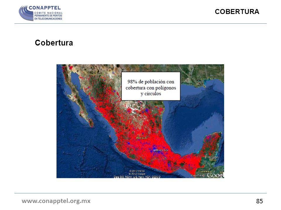 COBERTURA Cobertura www.conapptel.org.mx 85