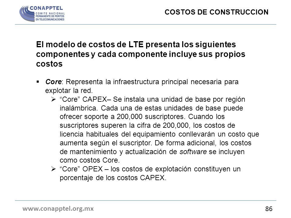COSTOS DE CONSTRUCCION