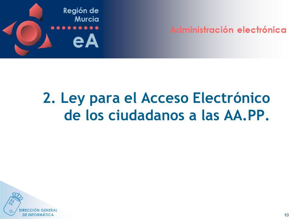 2. Ley para el Acceso Electrónico de los ciudadanos a las AA.PP.