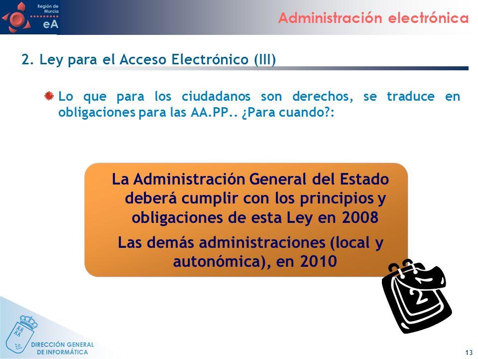 2. Ley para el Acceso Electrónico (III)