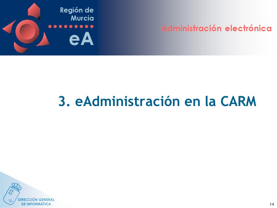 3. eAdministración en la CARM