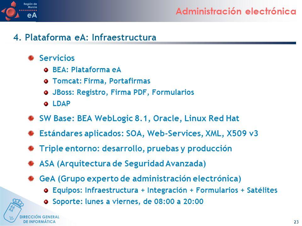 4. Plataforma eA: Infraestructura