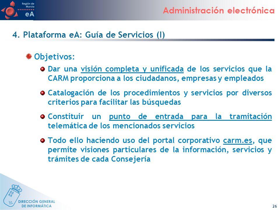 4. Plataforma eA: Guía de Servicios (I)
