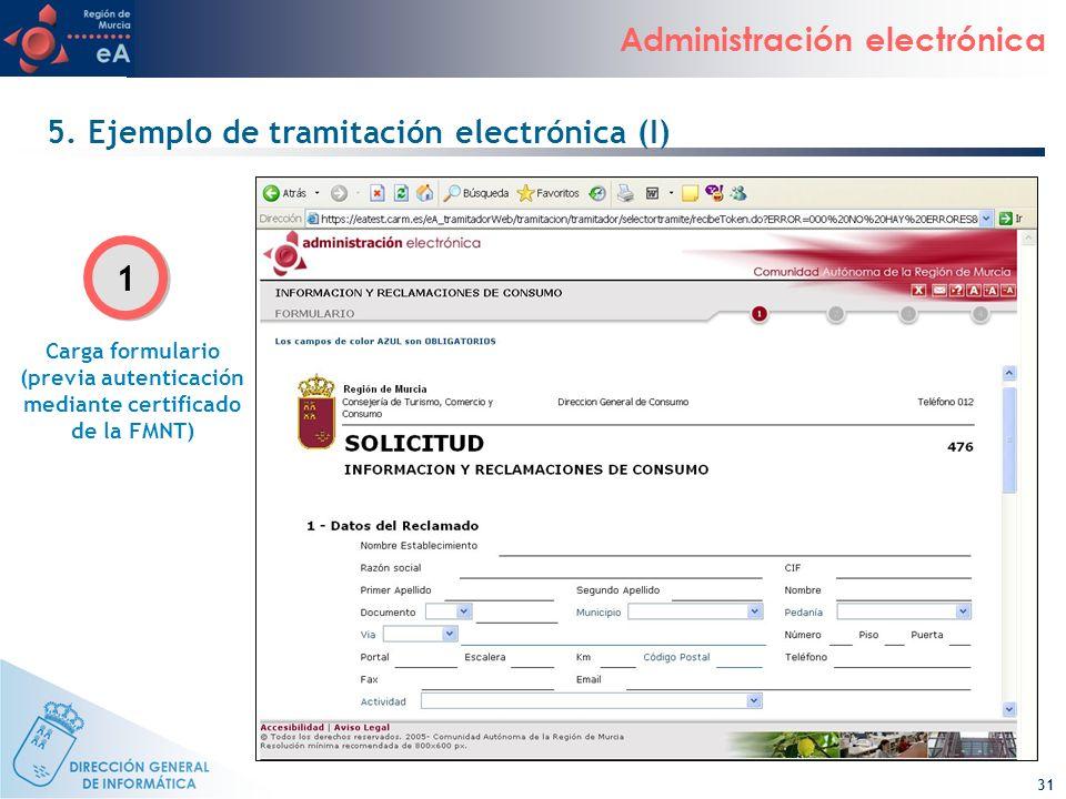 5. Ejemplo de tramitación electrónica (I)