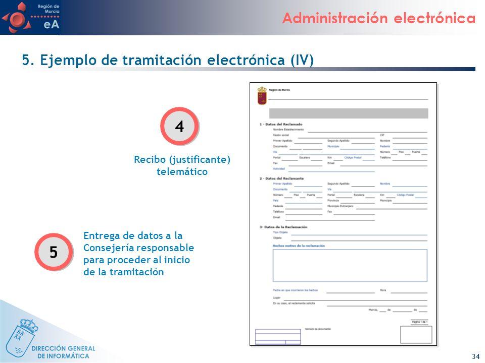 5. Ejemplo de tramitación electrónica (IV)